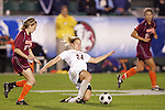 07 November 2008: Virginia's Colleen Flanagan (24). The University of Virginia and Virginia Tech played to a 1-1 tie after 2 overtimes at WakeMed Stadium at WakeMed Soccer Park in Cary, NC in a women's ACC tournament semifinal game.  Virginia Tech advanced to the final on penalty kicks, 2-1.