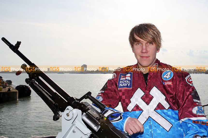 Kauko Nieminen of Lakeside Hammers - Lakeside Hammers on HMS Kent, Portsmouth - 02/03/10 - MANDATORY CREDIT: Rob Newell/TGSPHOTO - Self billing applies where appropriate - 0845 094 6026 - contact@tgsphoto.co.uk - NO UNPAID USE.