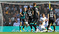 Swansea City's Wayne Routledge scores the late, winning goal <br /> <br /> Photographer Alex Dodd/CameraSport<br /> <br /> The EFL Sky Bet Championship - Leeds United v Swansea City - Saturday 31st August 2019 - Elland Road - Leeds<br /> <br /> World Copyright © 2019 CameraSport. All rights reserved. 43 Linden Ave. Countesthorpe. Leicester. England. LE8 5PG - Tel: +44 (0) 116 277 4147 - admin@camerasport.com - www.camerasport.com