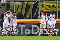 Federico Santander of Bologna celebrates with team mates after scoring goal of 0-1 <br /> Milano 03-02-2019 Stadio San Siro Football Serie A 2018/2019 Inter - Bologna    <br /> Foto Image Sport / Insidefoto