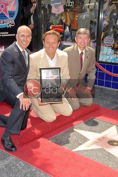 Jeffrey Katzenberg, Mark Burnette and Leron Gubler<br /> at the Hollywood Walk of Fame induction ceremoney for Mark Burnette, Hollywood, CA 07-08-09<br /> David Edwards/Dailyceleb.com 818-249-4998