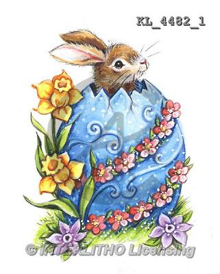 Interlitho, Theresa, EASTER, paintings, chicken,rabbits, eggs(KL4482/1,#E#) Ostern, Pacua, illustrations, pinturas ,vintage