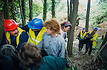 Private Security remove protesters. Whitecroft woods.<br /> Solsbury Hill road protest.