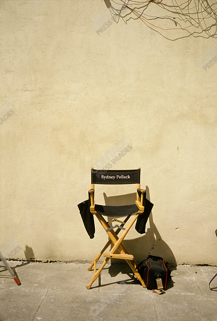 Sydney Pollack's director's chair on the set of Havana in Santo Domingo, Dominican Republic, March 1990