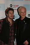 "Scott Clifton (OLTL) and General Hospital's Anthony Geary ""Luke"" attends the after party of ABC and SOAPnet's Salutes to Broadway Cares/Equity Fights Aids on March 9, 2009 at the New York Marriott Marquis, New York, NY.  (Photo by Sue Coflin/Max Photos)"