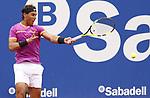Rafa Nadal jugando contra Rogerio Dutra Silva en la pista Rafa Nadal , miercoles 26.04.2017