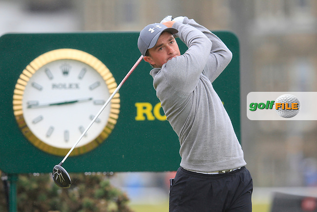 Paul DUNNE (IRL) (a) on the 2nd during the final round on Monday of the 144th Open Championship, St Andrews Old Course, St Andrews, Fife, Scotland. 20/07/2015.<br /> Picture: Golffile | Fran Caffrey<br /> <br /> <br /> All photo usage must carry mandatory copyright credit (&copy; Golffile | Fran Caffrey)