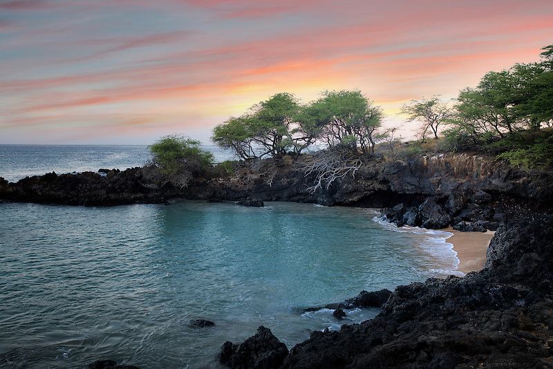 Cove of small beach. Near Hapuna Beach. Hawaii, Island