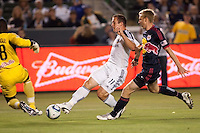 LA Galaxy forward Chad Barrett (11) takes a shot on goal. The LA Galaxy and Red Bulls of New York played to a 1-1 tie at Home Depot Center stadium in Carson, California on  May 7, 2011....
