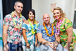 At staff the official opening of the Paradise Beauty Bar in Lower Rock Street on Friday night..<br /> L-r, David Holden, Daniela Contreras, John Turner and Romy Birdthistla.