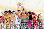 Selfie , Judges Glenda Gilson and Rose of Tralee Maria Walsh take's a selfie with the contestants of the Best Dressed lady at ladies day at the Killarney races on Thursday