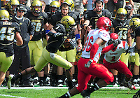 06 September 08: Colorado kickoff returner Josh Smith runs the ball against Eastern Washington. The Colorado Buffaloes defeated the Eastern Washington Eagles 31-24 at Folsom Field in Boulder, Colorado. FOR EDITORIAL USE ONLY