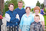 Pictured at the charity walk in aid of Isobel Sweeney, Cromane, in the Desmene, Killarney on Sunday were Kathleen Falvey, Dan O'Sullivan, Jason O'Sullivan, Martina O'Sullivan and Kathleen O'Sullivan. Isobel, is going for a liver transplant an the end of the month...................