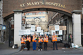 Junior doctors strike over new contract. St Mary's Hospital, Paddington, London.