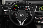 Car pictures of steering wheel view of a 2017 KIA Optima EX-Hybrid 4 Door Sedan Steering Wheel