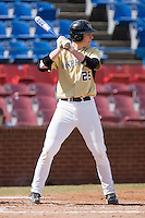 Matt Conway #25 of the Wake Forest Demon Deacons at bat versus the Xavier Musketeers at Wake Forest Baseball Park March 7, 2010, in Winston-Salem, North Carolina.  Photo by Brian Westerholt / Four Seam Images