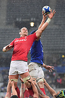 (L-R) Alun Wyn Jones of Wales and Wenceslas Lauret of France during the NatWest Six Nations match between France and Wales on February 1, 2019 in Paris, France. (Photo by Dave Winter/Icon Sport)