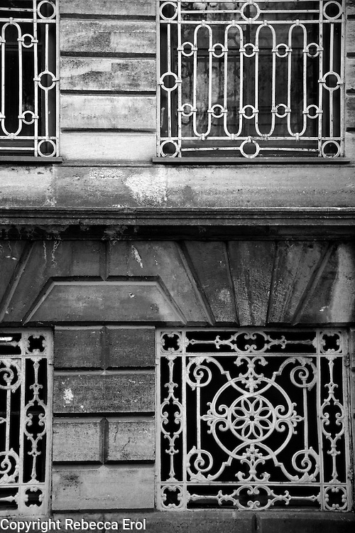 Window grill detail at the Dolmabahce Palace, Istanbul, Turkey