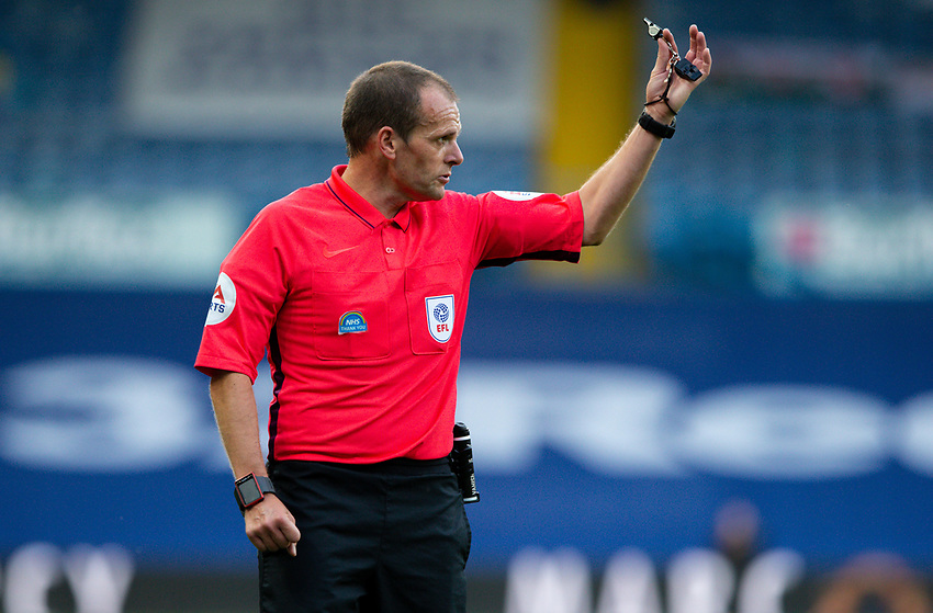 Referee Geoff Eltringham<br /> <br /> Photographer Alex Dodd/CameraSport<br /> <br /> The EFL Sky Bet Championship - Leeds United v Charlton Athletic - Wednesday July 22nd 2020 - Elland Road - Leeds <br /> <br /> World Copyright © 2020 CameraSport. All rights reserved. 43 Linden Ave. Countesthorpe. Leicester. England. LE8 5PG - Tel: +44 (0) 116 277 4147 - admin@camerasport.com - www.camerasport.com