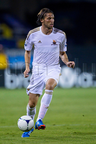 31.07.2012 Swansea City forward Michu (9) chases the ball. The San Jose Earthquakes drew Swansea City 2-2 in regulation time at Buck Shaw Stadium in Santa Clara California, USA.