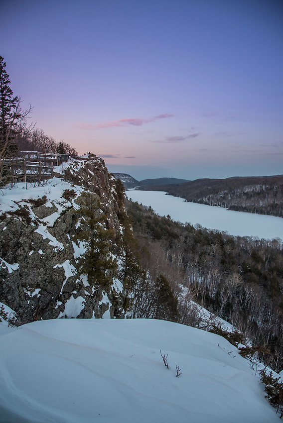 Porcupine Mountains State Park in winter on Michigan's Upper Peninsula.