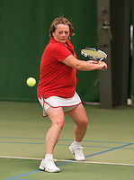 August 22, 2014, Netherlands, Amstelveen, De Kegel, National Veterans Championships, Martine Korthals NED)<br /> Photo: Tennisimages/Henk Koster
