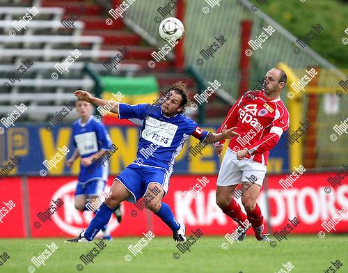 2008-08-17 / Voetbal / R. Antwerp FC - KSK Ronse / Gregory Ferreira-Lino (L) met Darko Pivaljevic van Antwerp in de rug...Foto: Maarten Straetemans (SMB)