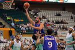 Basketball Champions League 2017/18 - Previus.<br /> Divina Seguros Joventut vs Dinamo Tbilisi: 86-66.<br /> Patrick Richard vs Nikoloz Tskitishvili.