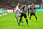 06.10.2019, Commerzbankarena, Frankfurt, GER, 1. FBL, Eintracht Frankfurt vs. SV Werder Bremen, <br /> <br /> DFL REGULATIONS PROHIBIT ANY USE OF PHOTOGRAPHS AS IMAGE SEQUENCES AND/OR QUASI-VIDEO.<br /> <br /> im Bild: Theodor Gebre Selassie (#23, SV Werder Bremen) gegne Filip Kostic (Eintracht Frankfurt #10)<br /> <br /> Foto © nordphoto / Fabisch