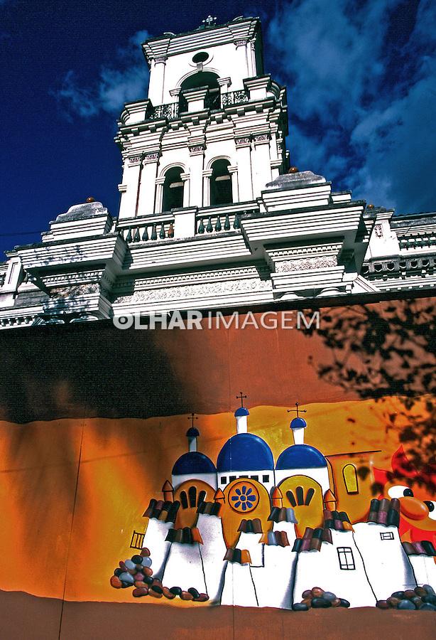 Igreja na cidade de Cuenca. Equador. Foto de Juca Martins. Data: 1997.