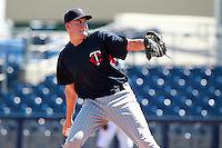 Minnesota Twins minor league pitcher Tyler Herr delivers a pitch during an Instructional League game vs. the Tampa Bay Rays at Charlotte Sports Park in Port Charlotte, Florida;  October 5, 2010.  Photo By Mike Janes/Four Seam Images