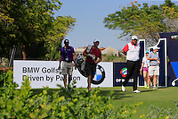 Shane Lowry (IRL) on the 11th tee during the preview for the DP World Tour Championship at the Earth course,  Jumeirah Golf Estates in Dubai, UAE,  18/11/2015.<br /> Picture: Golffile | Thos Caffrey<br /> <br /> All photo usage must carry mandatory copyright credit (&copy; Golffile | Thos Caffrey)