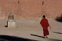 Monks at a Monastery in Tibet