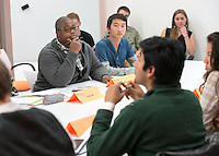 VP Academic Affairs Enoch Sowah '14, left, and VP External Affairs William Huang '15.<br />