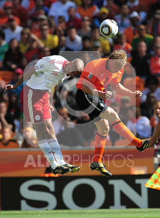 7 Dirk KUYT during the 2010 World Cup Soccer match between Denmark and Nederland played at Soccer City Stadium in Johannesburg South Africa on 14 June 2010.  Photo: Gerhard Steenkamp/Clevia Media. Cell: +27 82 453 2345