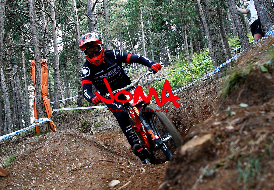 Charlie Hatton (GBR)Downhill training sesion, UCI, Moutain Bike World Cup , Vallnord Andorra. 12/07/2018