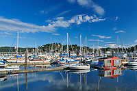 Boats in marina on the Sunshine Coast<br /> Gibsons<br /> British Columbia<br /> Canada<br />