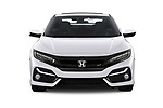 Car photography straight front view of a 2020 Honda Civic-Si-Coupe Si 2 Door Coupe Front View