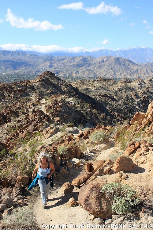 woman hiking near Mt. Eisenhower