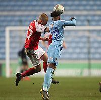 Fleetwood Town's Paddy Madden  in action with Coventry City's Dujon Sterling <br /> <br /> Photographer Mick Walker/CameraSport<br /> <br /> The EFL Sky Bet League One - Coventry City v Fleetwood Town - Tuesday 12th March 2019 - Ricoh Arena - Coventry<br /> <br /> World Copyright © 2019 CameraSport. All rights reserved. 43 Linden Ave. Countesthorpe. Leicester. England. LE8 5PG - Tel: +44 (0) 116 277 4147 - admin@camerasport.com - www.camerasport.com