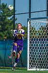 18 September 2013: University of Vermont Catamount Goalkeeper Conor Leland, a Senior from Richmond, VT, in action against the Hofstra University Pride at Virtue Field in Burlington, Vermont. The Catamounts defeated the visiting Pride 2-1. Mandatory Credit: Ed Wolfstein Photo *** RAW (NEF) Image File Available ***