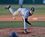 15 April 2008: Dartmouth College Big Green pitcher Kyle Zeis, a Senior from Solana Beach, CA, in action against the University of Vermont Catamounts at Historic Centennial Field in Burlington, Vermont. The Catamounts rallied from a 7-3 deficit to win 8-7 over Dartmouth in a non-conference NCAA game...Mandatory Photo Credit: Ed Wolfstein Photo