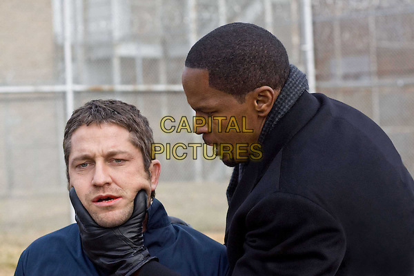 GERARD BUTLER & JAMIE FOXX.in Law Abiding Citizen.*Filmstill - Editorial Use Only*.CAP/FB.Supplied by Capital Pictures.