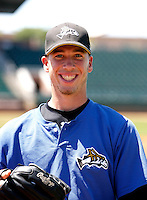 Patrick Schuster - 2010 Missoula Osprey - Pioneer League, playing against the Ogden Raptors at Lindquist Field, Ogden, UT - 07/25/2010.Photo by:  Bill Mitchell/Four Seam Images..