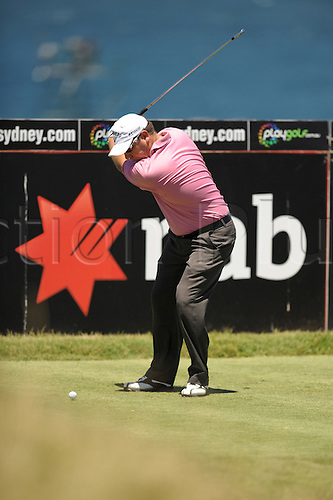 3 December 2009. David Brandson tee shot at the par 4 14. Round 1 of the 2009 Australian Open at New South Wales Golf Club in Sydney, Australia. Photo: Murray Richard/Actionplus Editorial Use Only