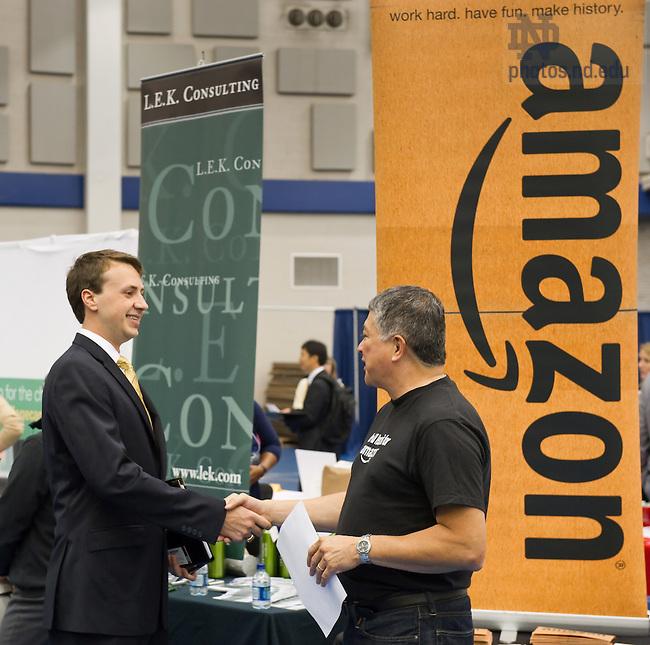 Sept. 8, 2011; Career fair..Photo by Matt Cashore/University of Notre Dame