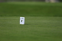 IGF tee marker during final day of the World Amateur Team Championships 2018, Carton House, Kildare, Ireland. 01/09/2018.<br /> Picture Fran Caffrey / Golffile.ie<br /> <br /> All photo usage must carry mandatory copyright credit (&copy; Golffile | Fran Caffrey)