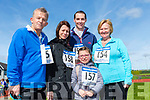 At the Glenflesk ag rite Run for the Bus in aid of Kerry Cancer support Group Health link Bus at  An Riocht AC Grounds Castleisland on Sunday were Stanley Wade, Bridget Wade,  Damien Lucey, Lucy Wade and Jasmine Lucey