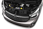 Car Stock 2016 Opel Vivaro Business 4 Door Combi Engine  high angle detail view