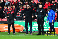 Crewe Alexandra manager David Artell shouts instructions to his team from the technical area<br /> <br /> Photographer Andrew Vaughan/CameraSport<br /> <br /> The EFL Sky Bet League Two - Crewe Alexandra v Lincoln City - Saturday 11th November 2017 - Alexandra Stadium - Crewe<br /> <br /> World Copyright &copy; 2017 CameraSport. All rights reserved. 43 Linden Ave. Countesthorpe. Leicester. England. LE8 5PG - Tel: +44 (0) 116 277 4147 - admin@camerasport.com - www.camerasport.com
